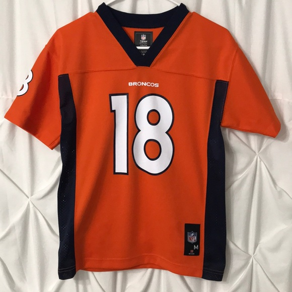 san francisco a3501 ce895 Denver Broncos Manning Jersey Shirt Youth 10/12 M